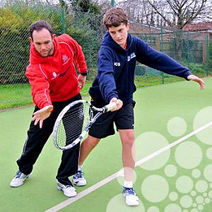 Tennisleraren zelfvertrouwen